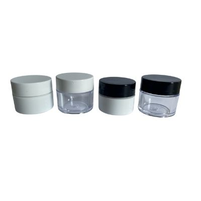 Lip Balm Jars 1/4 oz. (white & Clear) With White or Black Lid
